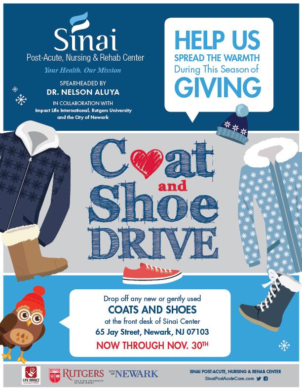 Coat & Shoe Drive - Sinai Post-Acute Nursing & Rehab Center