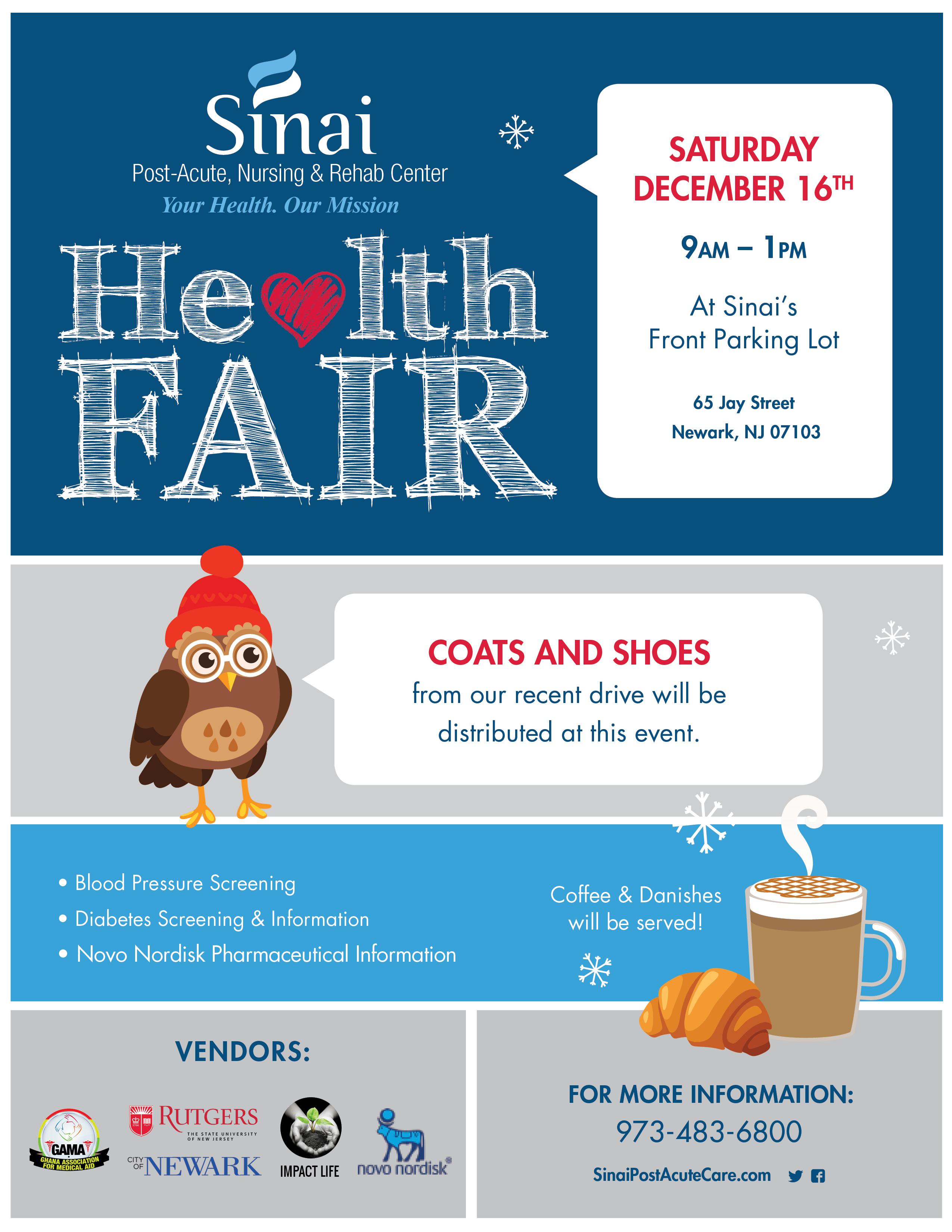 Sinai Health Fair Flier